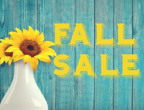 Fall Sale Begins Tomorrow!!!